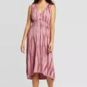 NWOT Knox Rose Boho Blush Pink Tie Dye Dress XXL